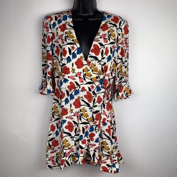 e5a4cab8 Zara Dresses   Trafaluc Floral Romper Skort Dress M Boho   Poshmark